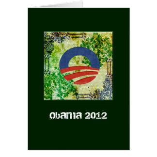 Eco Grunge Obama 2012 Reelection Design Card