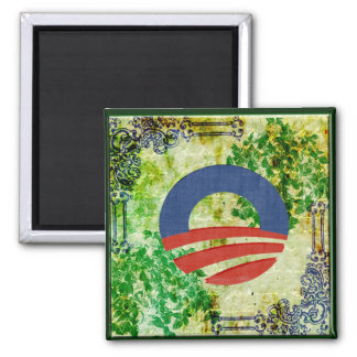 Eco Grunge Obama 2012 Reelection Design Magnet