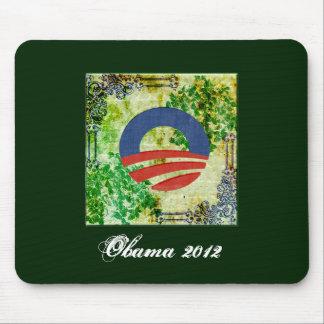 Eco Grunge Obama 2012 Reelection Design Mouse Pad