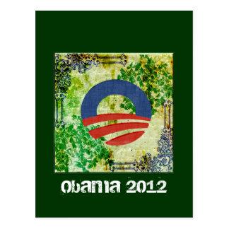 Eco Grunge Obama 2012 Reelection Design Postcard