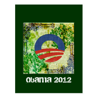 Eco Grunge Obama 2012 Reelection Design Postcards