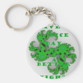 Eco Have a Nice Day and a Better Night Keychain
