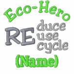 Eco-Hero Name Shirts Embroidered Polo Shirt