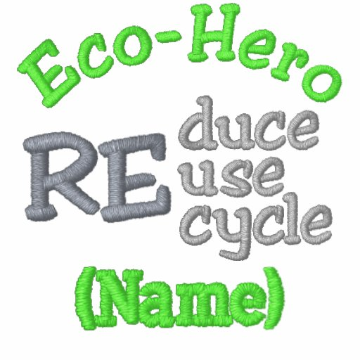 Eco-Hero Name Shirts Embroidered Polo Shirt