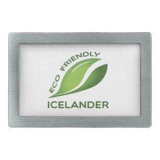 Eco islandés amistoso hebilla cinturón rectangular