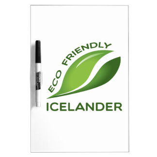 Eco islandés amistoso tablero blanco