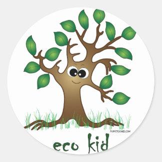 Eco Kid Classic Round Sticker