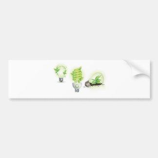 Eco leaf globes bumper sticker