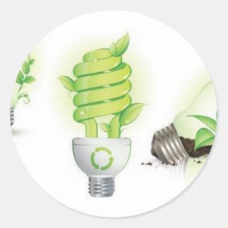 Eco leaf globes classic round sticker