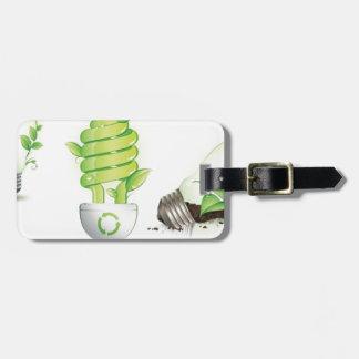 Eco leaf globes tag for luggage