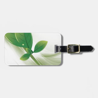 eco-leaves-vector travel bag tag