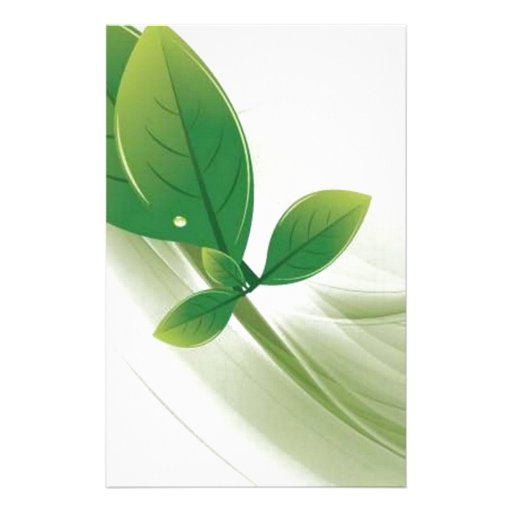 eco-leaves-vector stationery