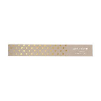 Eco lindo Kraft del oro de puntos del confeti de Etiquetas Para Remite