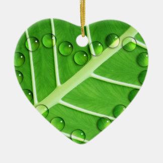 Eco Love Double-Sided Heart Ceramic Christmas Ornament