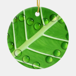 Eco Love Double-Sided Ceramic Round Christmas Ornament