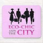 Eco - moda y la ciudad alfombrilla de ratón