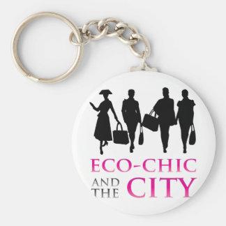 Eco - moda y la ciudad llaveros
