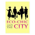 Eco - moda y la ciudad tarjeta postal