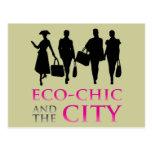 Eco - moda y la ciudad tarjetas postales