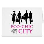 Eco - moda y la ciudad tarjetón