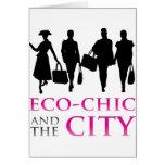 Eco - moda y la ciudad tarjeton