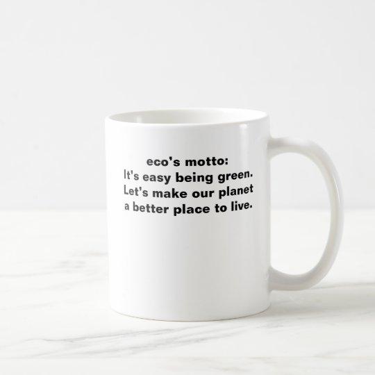 eco motto mug