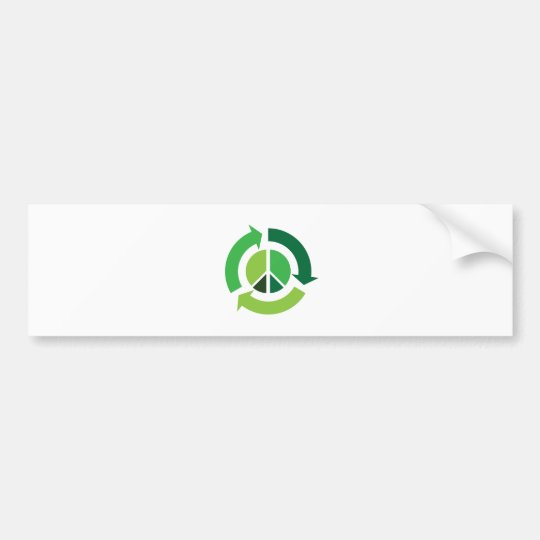 Eco Peace Bumper Sticker
