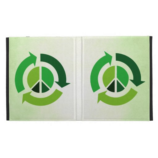 Eco Peace iPad Folio Cases