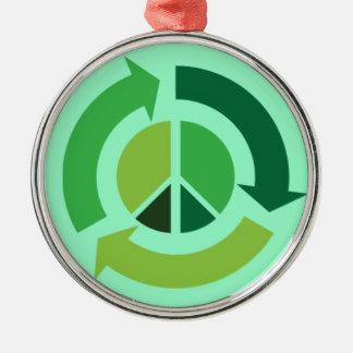Eco Peace Metal Ornament