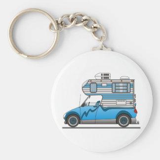 Eco Pick Up Camper Blue Keychains