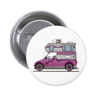 Eco Pick Up Camper Purple 2 Inch Round Button