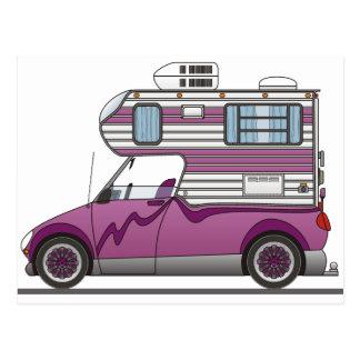 Eco Pick Up Camper Purple Postcard
