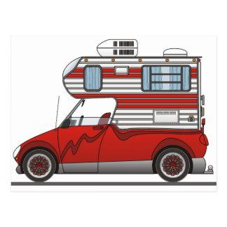 Eco Pick Up Camper Red Postcard