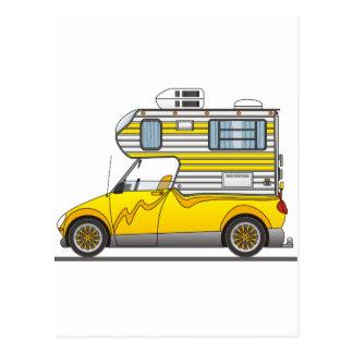 Eco Pick Up Camper Yellow Postcard