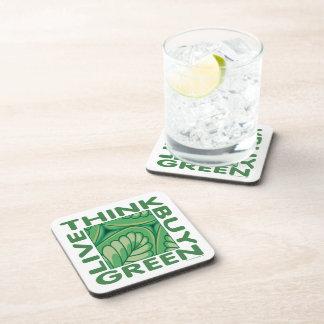 Eco piensa verde posavasos de bebidas