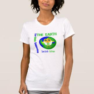 Eco-Polluelo que apoya la tierra Camiseta