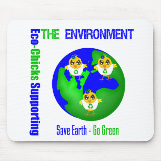 Eco-Polluelos que apoyan el ambiente Tapete De Ratones