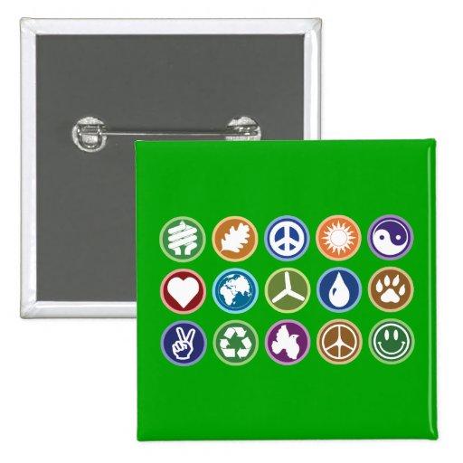 Eco Symbols Pinback Buttons
