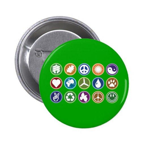 Eco Symbols Pin