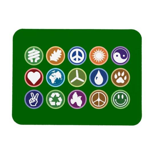 Eco Symbols Magnet