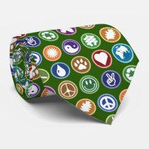 Eco Symbols Neck Tie