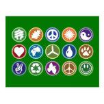 Eco Symbols Postcard