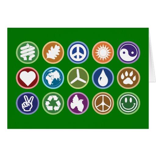 Eco Symbols Stationery Note Card
