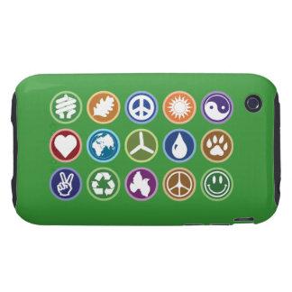 Eco Symbols Tough iPhone 3 Cases
