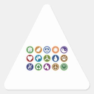 Eco Symbols Triangle Sticker