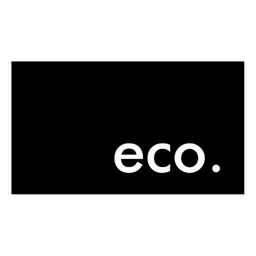eco. plantillas de tarjetas de visita