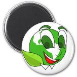 Eco-Tierra verde sonriente Iman Para Frigorífico