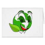 Eco-Tierra verde sonriente Tarjetas