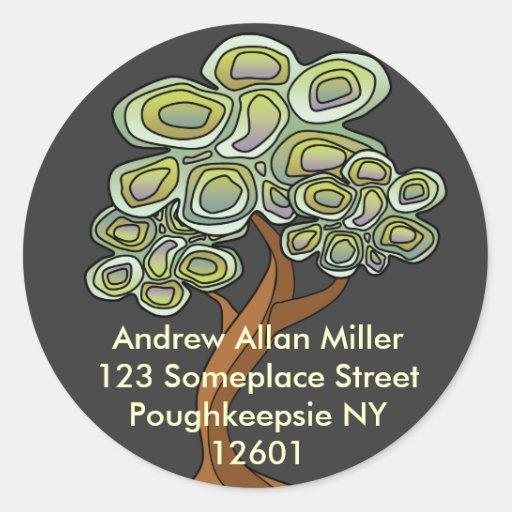 Eco Tree Book Label Stickers