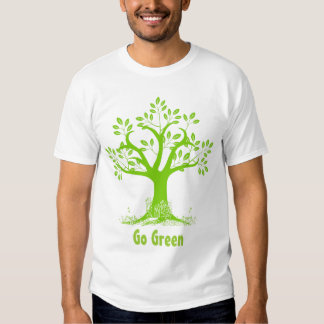 Eco Tree Go Green t shirt